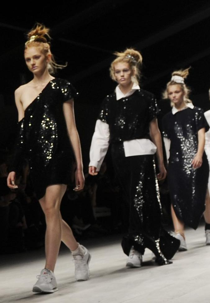 black sequined dresses ashish