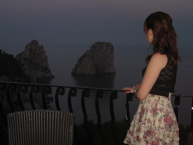 Night view from Capri.