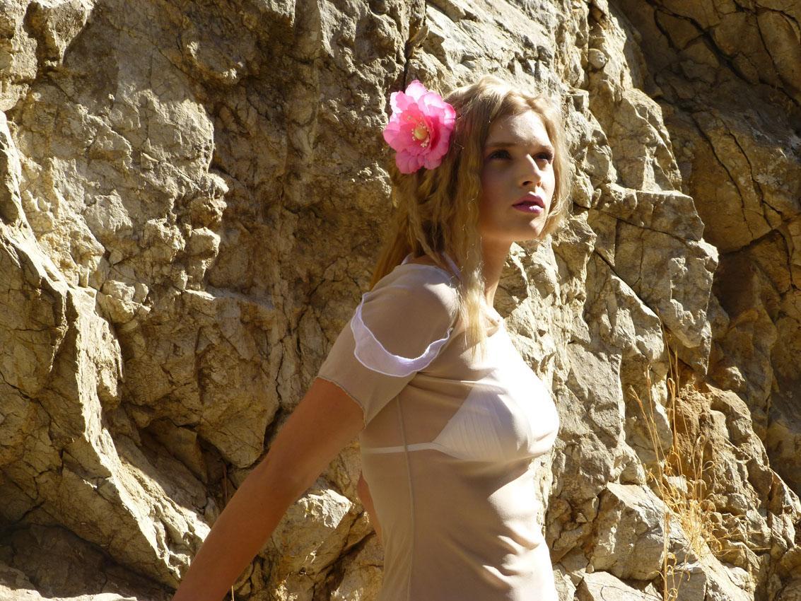 Eleni Kyriacou Sheer Dresses Photoshoot