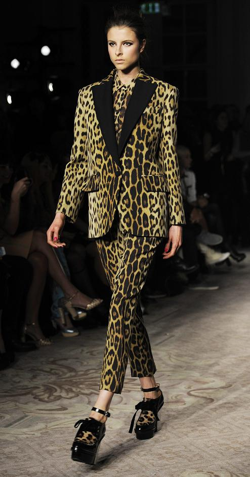 Leopard print suit - London Fashion Week Fall Winter 2013