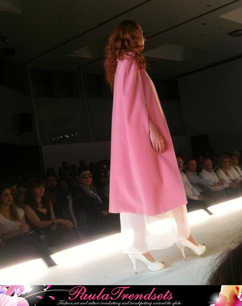 Sandy Antoniou Fashion 2014 pink coat