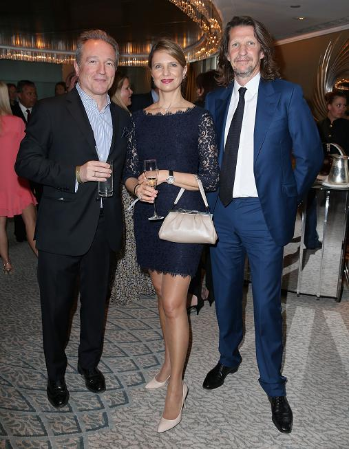 Georges Dekeerle with his wife Ekaterina Neverova and Pierre Lagrange