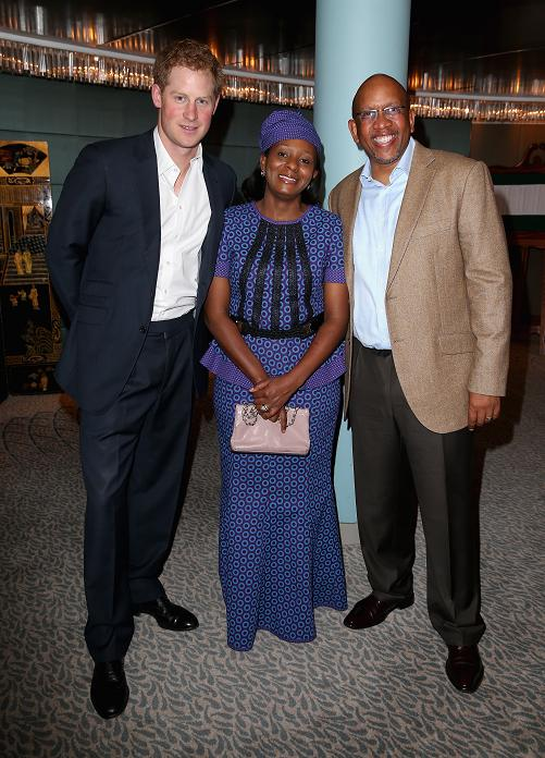 Prince Harry with Prince Seeiso Bareng Seeiso and Princess Mabereng