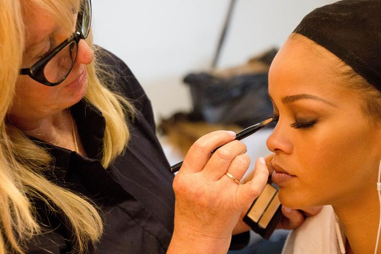 Rihanna Backstage for MAC Cosmetics 10