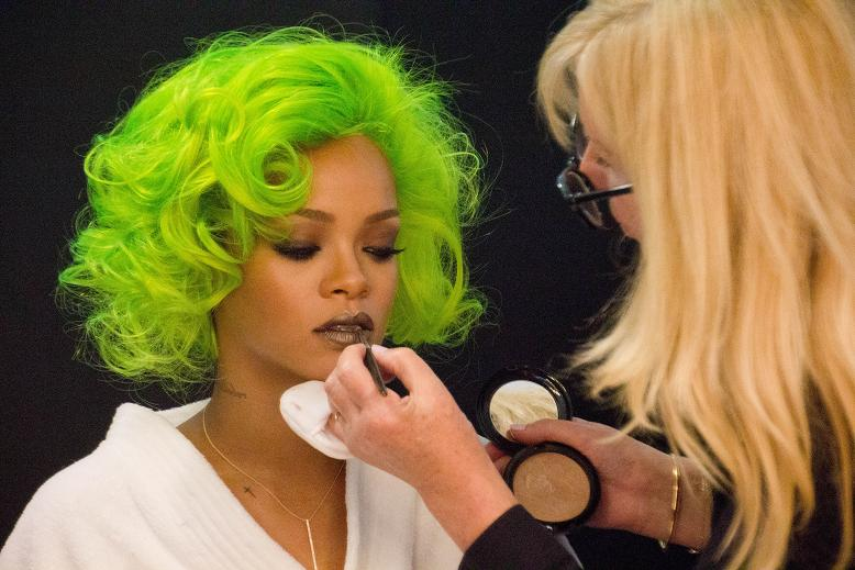 Rihanna Backstage for MAC Cosmetics