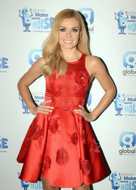 KATHERINE JENKINS red Kolchagov Barba dress