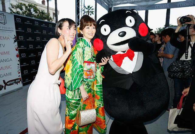 Kumamon attends the Japan Day Project Party during the 68th annual Cannes Film Festival on May 18, 2015 in Cannes, France. (Photo by Tristan Fewings/Getty Images)