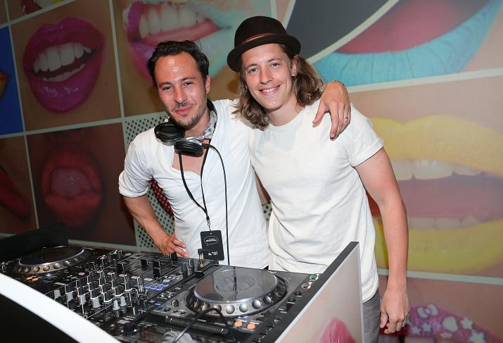 MUNICH, GERMANY - JUNE 24: DJ Nikias Hofmann, DJ Pierre Sarkozy during the presentation of 'Art of the Lip' by MAC Cosmetics at Haus der Kunst on June 24, 2015 in Munich, Germany. (Photo by Gisela Schober/Getty Images)
