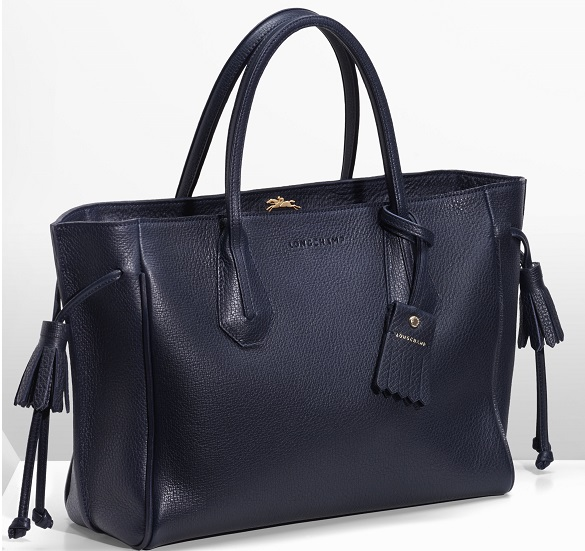 Black Leather Bag by Longchamp