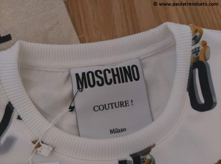 Express Elf Mail: cute bear-themed Moschino top