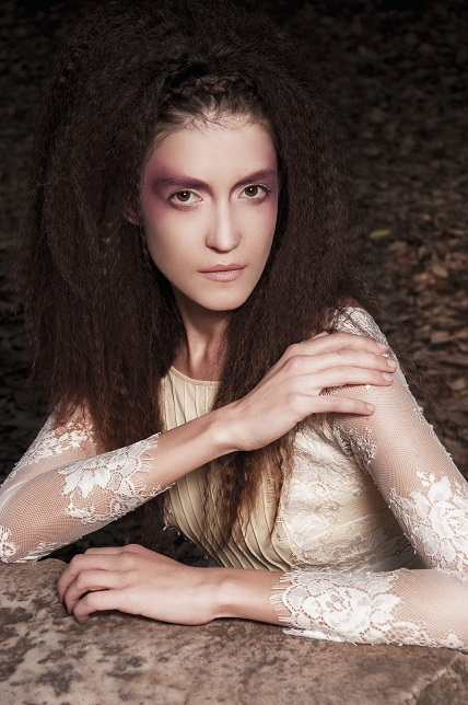 Hair Crimping Beauty Editorial