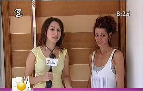 Paula Tsoni interviewing Panayiota Lazaris for Sigma TV
