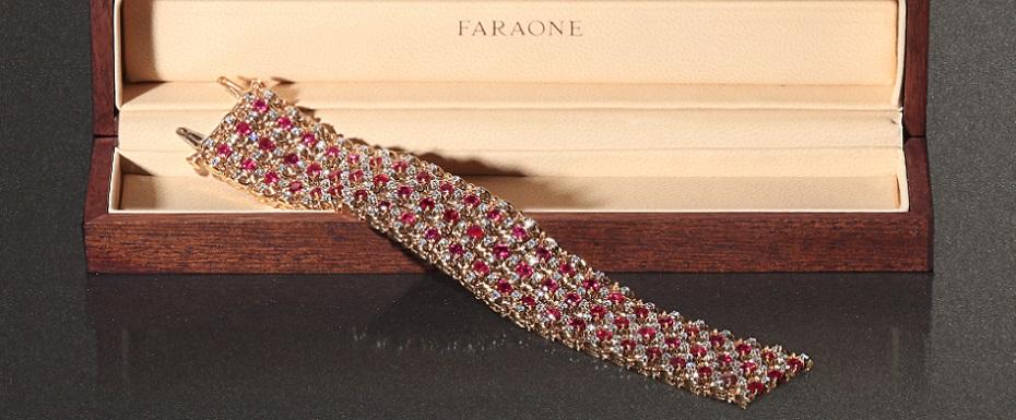 Faraone Rubies and Diamonds Bracelet