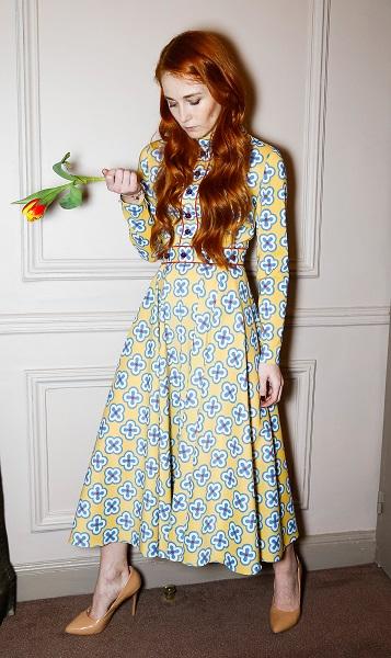 Korsun Paris Fashion Week Printed Dress