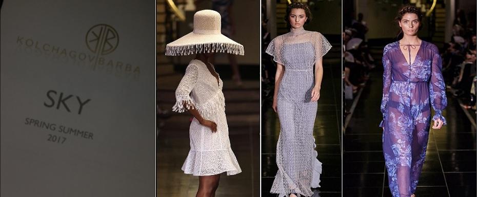 Kolchagov Barba show SKY collection at London Fashion Week SS17