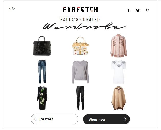 Paula's Curated Wardrobe by Farfetch Wardrobe Generator
