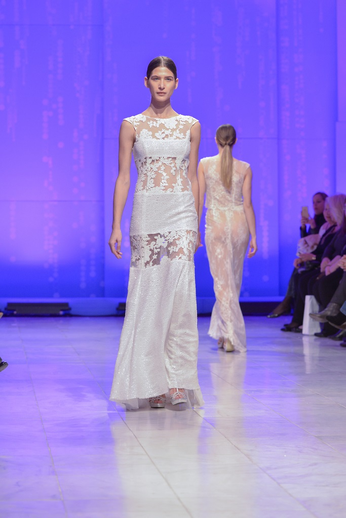 TRANOULIS SEQUINED BRIDAL DRESS