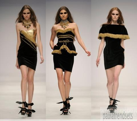 Glam it up in black & gold – PPQ catwalk video