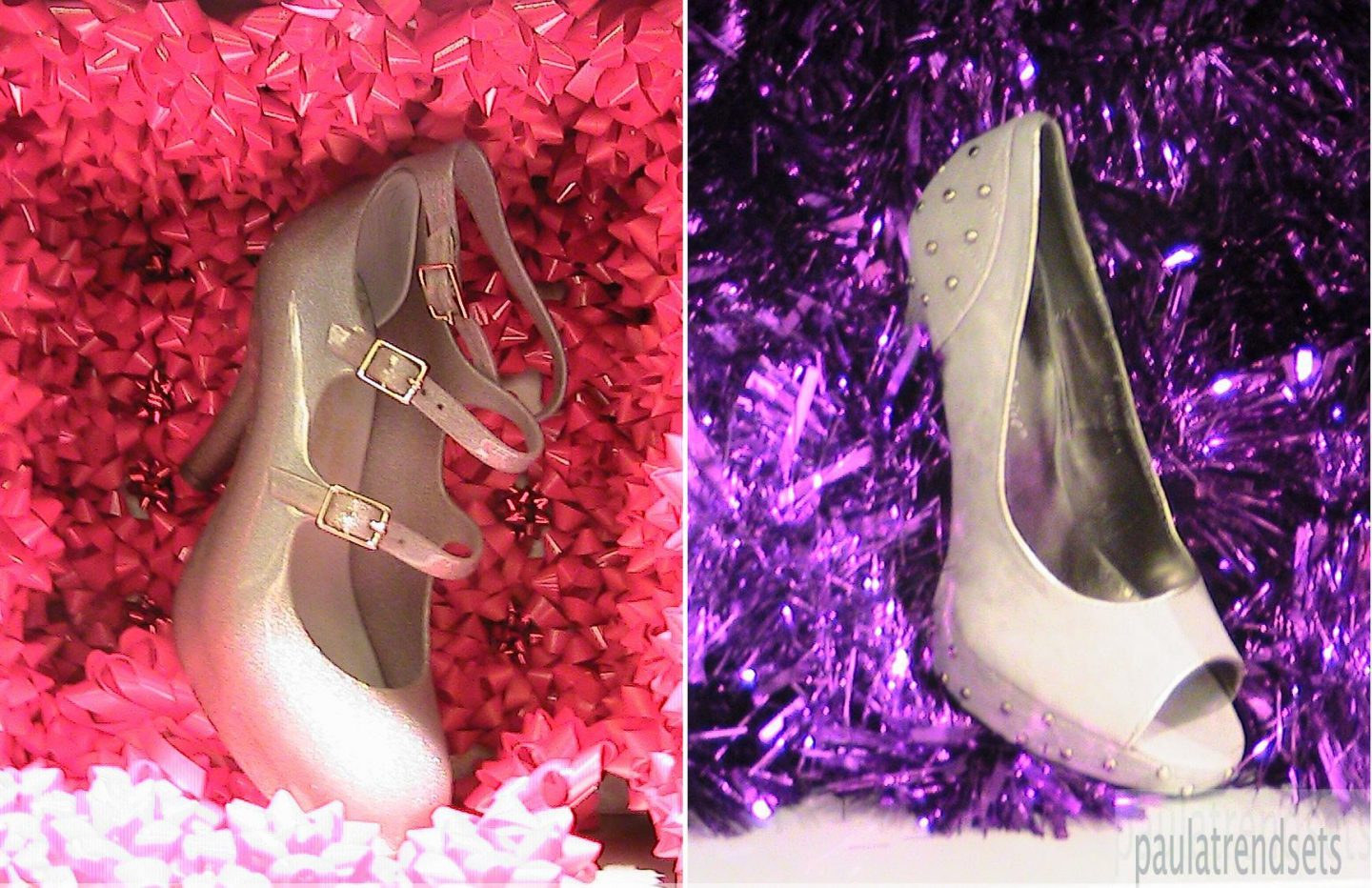 A Christmas Tree made of Designer Shoes at Harvey Nichols (Video)