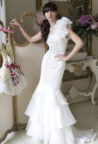 Shop designer bridal gowns at reduced prices in the UK