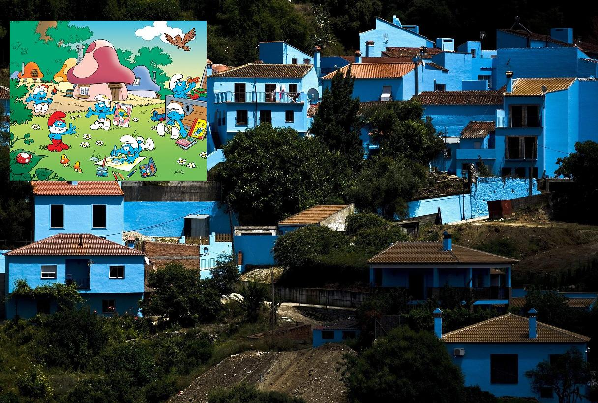 Smurf Village set up in Spain