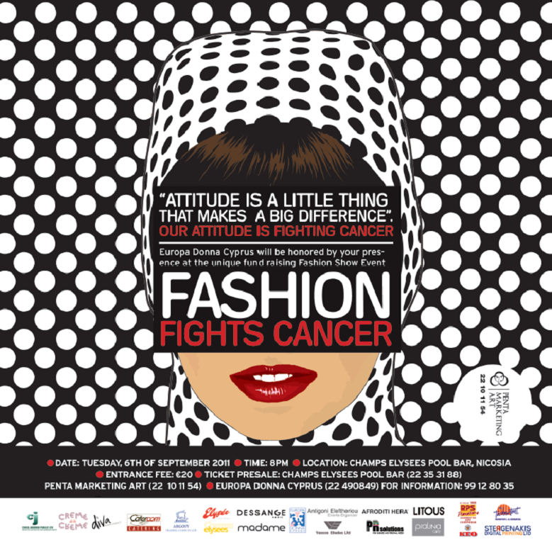 Fashion Fights Cancer next Tuesday, 6th September