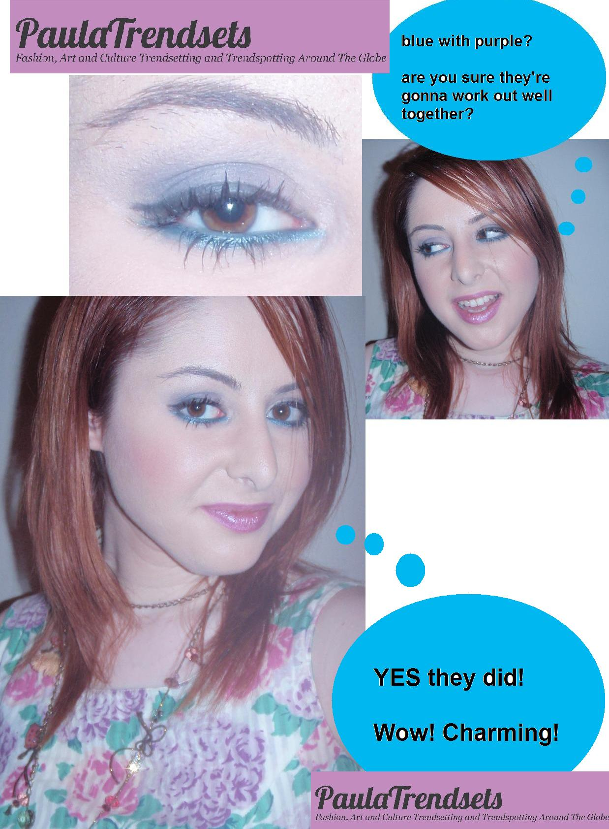 A new way to wear blue eyeliner
