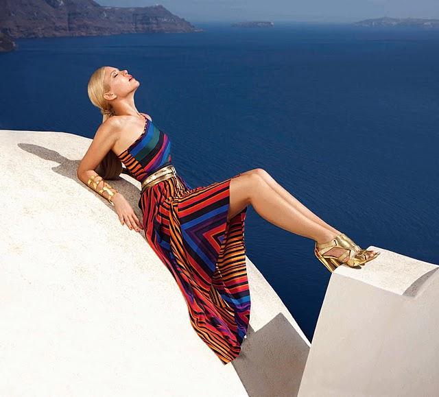 Falabella fashion shoot in Santorini (video)