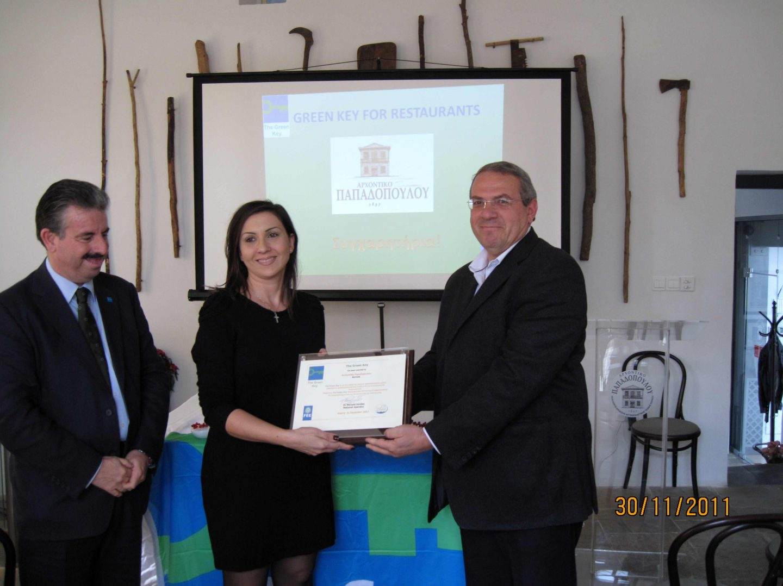 "Cyprus restaurant wins ""Green Key"" Award"