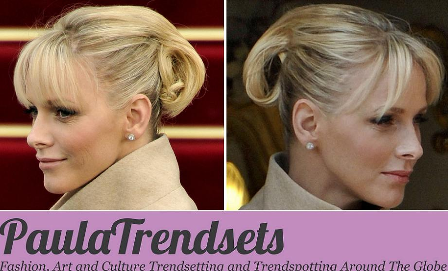 Princess Charlene's elegant hair-do