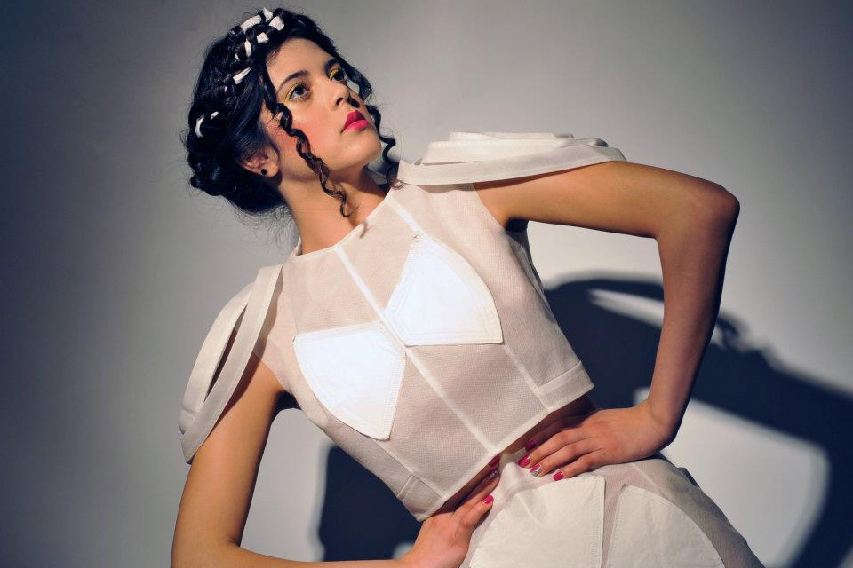 Fashion created with coffee filters