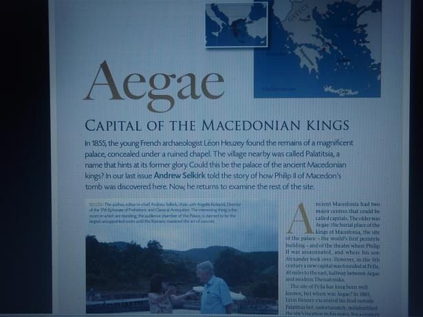 Ancient Macedon in Current World Archaeology magazine
