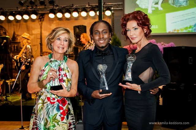 Marcellous Jones, Patrizia Gucci, Ewa Minge share humanitarian award
