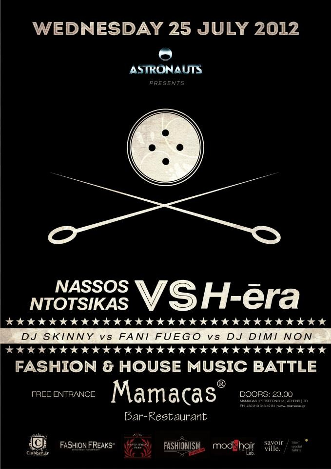 Fashion VS House Music battle tonight in Athens