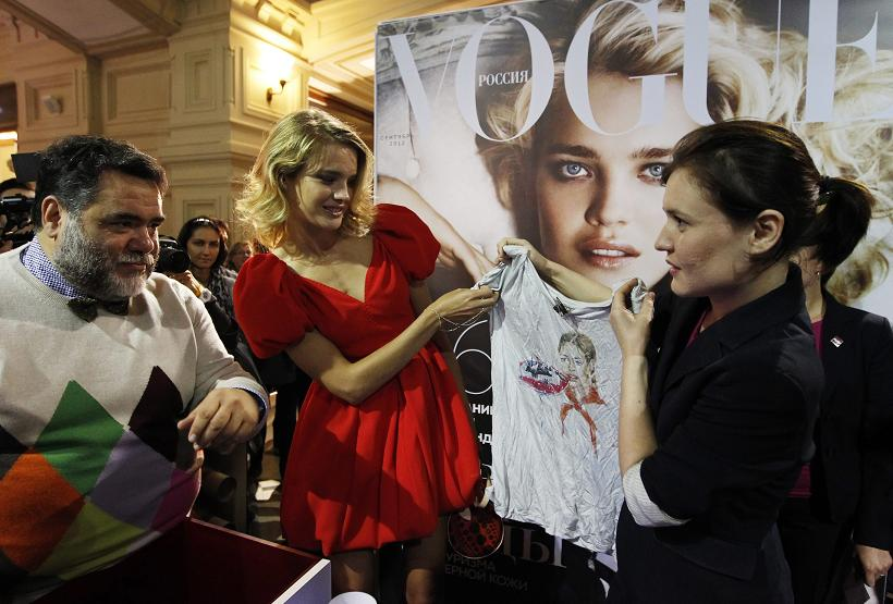 Vogue Fashion's Night Out – Moscow – Natalia Vodianova