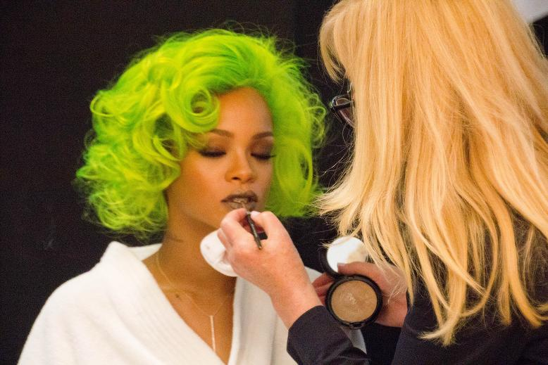 Backstage with Rihanna for MAC Viva Glam