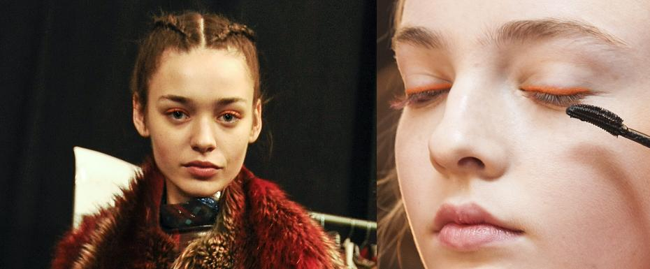 Catwalk Makeup Crush: Orange Eyeliner for Winter