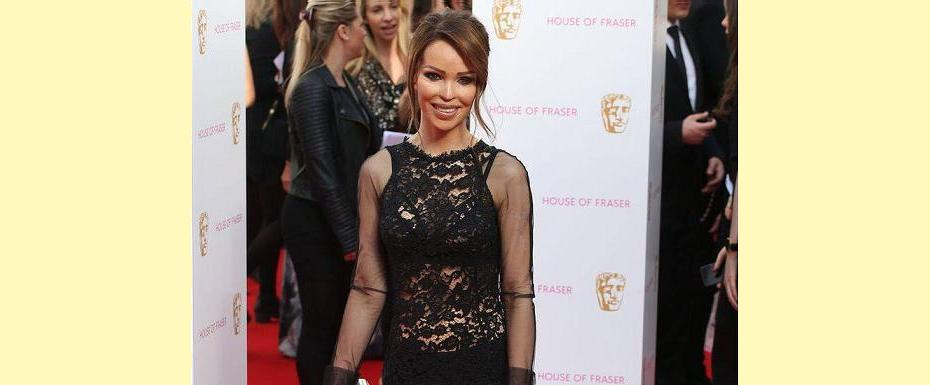 Katie Piper's stunning red carpet see-through dress