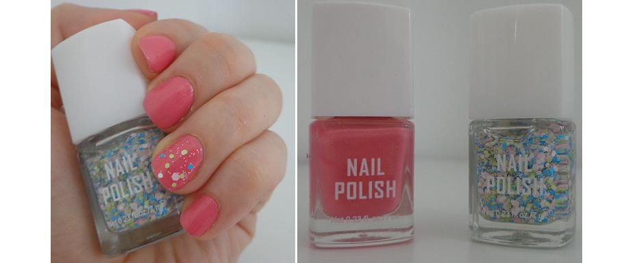 Simple nail art tutorial – Candy pink with colorful confetti