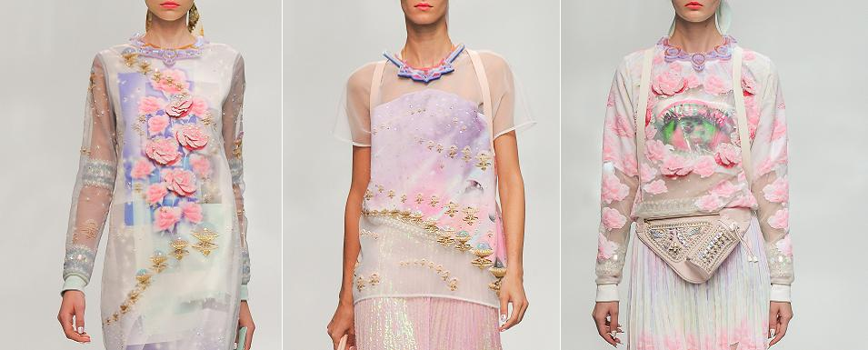 Heavenly ethereal fashion by Manish Arora for S/S 2015