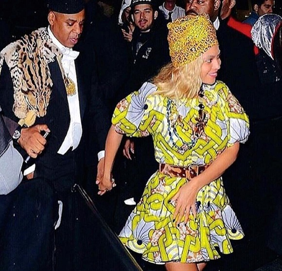 Beyonce African-inspired outfit