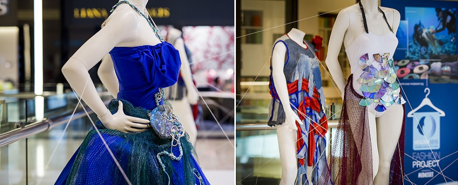 Fashion made of abandoned fishing nets